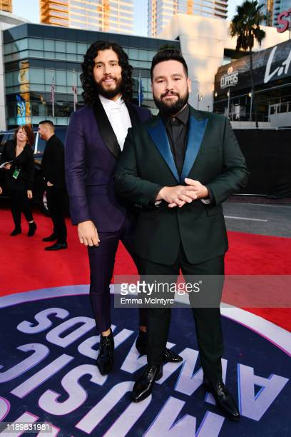 Dan Smyers and Shay Mooney of Dan Shay attend the 2019 American Music Awards at Microsoft Theater on November 24 2019 in Los Angeles California