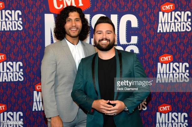 Dan Smyers and Shay Mooney of Dan Shay attend the 2019 CMT Music Awards at Bridgestone Arena on June 05 2019 in Nashville Tennessee
