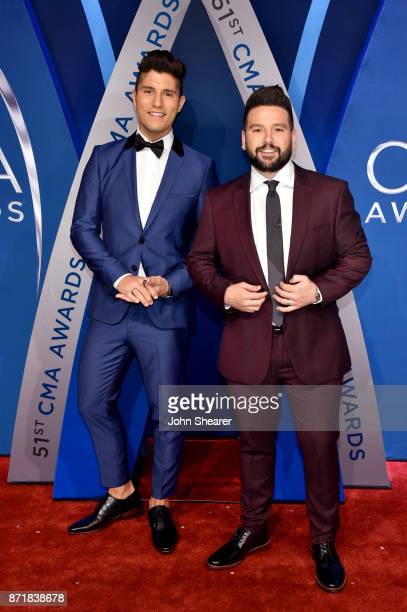 Dan Smyers and Shay Mooney of Dan Shay attend the 51st annual CMA Awards at the Bridgestone Arena on November 8 2017 in Nashville Tennessee