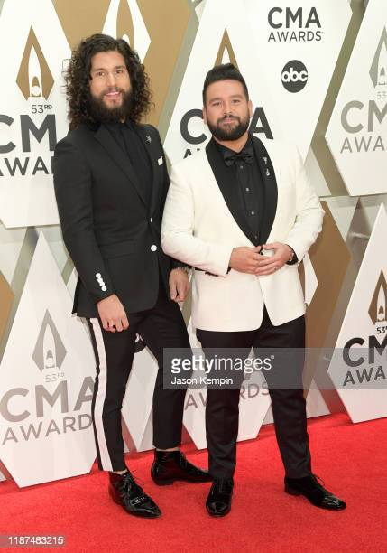 Dan Smyers and Shay Mooney of Dan Shay attend the 53rd annual CMA Awards at the Music City Center on November 13 2019 in Nashville Tennessee