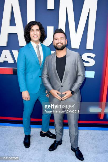Dan Smyers and Shay Mooney of Dan Shay attend the 54th Academy Of Country Music Awards at MGM Grand Garden Arena on April 07 2019 in Las Vegas Nevada