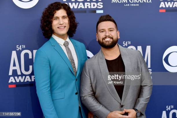 Dan Smyers and Shay Mooney of Dan Shay attend the 54th Academy Of Country Music Awards at MGM Grand Hotel Casino on April 07 2019 in Las Vegas Nevada