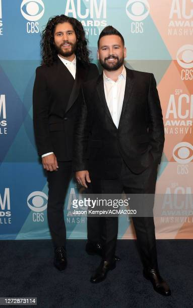 Dan Smyers and Shay Mooney of Dan + Shay attend the 55th Academy of Country Music Awards at the Grand Ole Opry on September 14, 2020 in Nashville,...