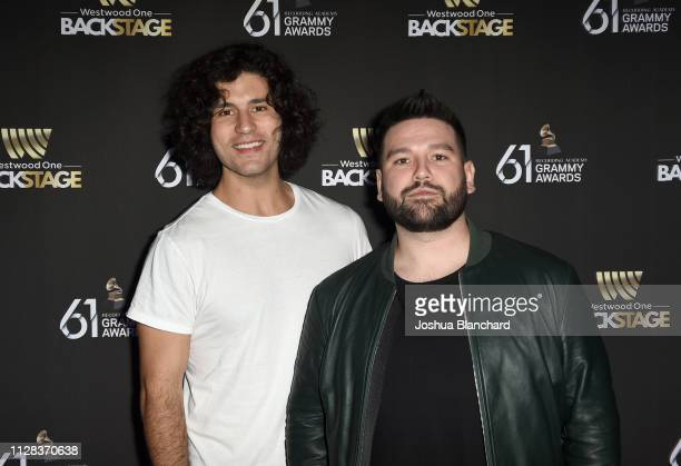 Dan Smyers and Shay Mooney of Dan Shay attend the Westwood One Radio Roundtables during the 61st Annual GRAMMY Awards at Lexus Lounge on February 08...