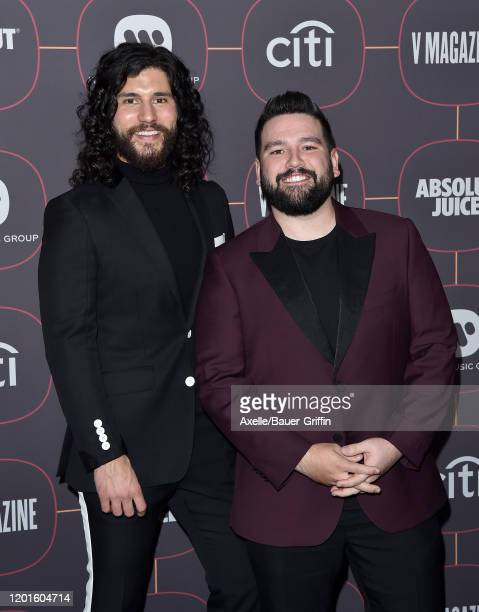 Dan Smyers and Shay Mooney of Dan + Shay attend Warner Music Group Pre-Grammy Party 2020 at Hollywood Athletic Club on January 23, 2020 in Hollywood,...