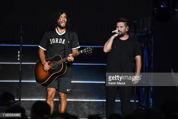 Dan Smyers and Shay Mooney of Dan Shay perform onstage at Northwell Health at Jones Beach Theater on July 20 2019 in Wantagh New York