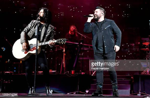 Dan Smyers and Shay Mooney of Dan Shay perform onstage during the Bud Light Super Bowl Music Fest on February 01 2020 in Miami Florida