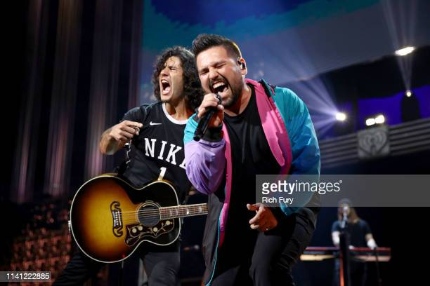 Dan Smyers and Shay Mooney of Dan Shay perform onstage during the 2019 iHeartCountry Festival Presented by Capital One at the Frank Erwin Center on...
