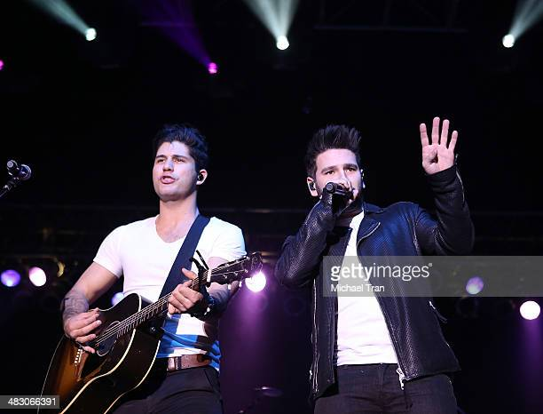 Dan Smyers and Shay Mooney of Dan Shay perform performs onstage during the 2nd Annual ACM Party for a Cause Festival Day 2 held on April 5 2014 in...