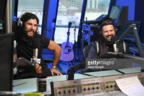 Dan Smyers and Shay Mooney of Dan Shay visit SiriusXM Studios on October 02 2019 in Nashville Tennessee