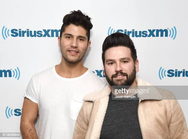 Dan Smyers and Shay Mooney of the band Dan Shay visit SiriusXM Studios on January 26 2018 in New York City