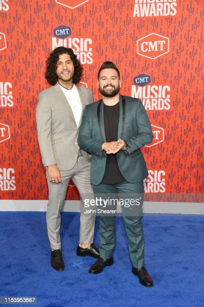 Dan Smyers and Shay Mooney of the musical group Dan Shay attend the 2019 CMT Music Award at Bridgestone Arena on June 05 2019 in Nashville Tennessee