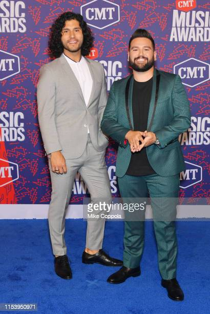 Dan Smyers and Shay Mooney the musical group Dan Shay attend the 2019 CMT Music Award at Bridgestone Arena on June 05 2019 in Nashville Tennessee