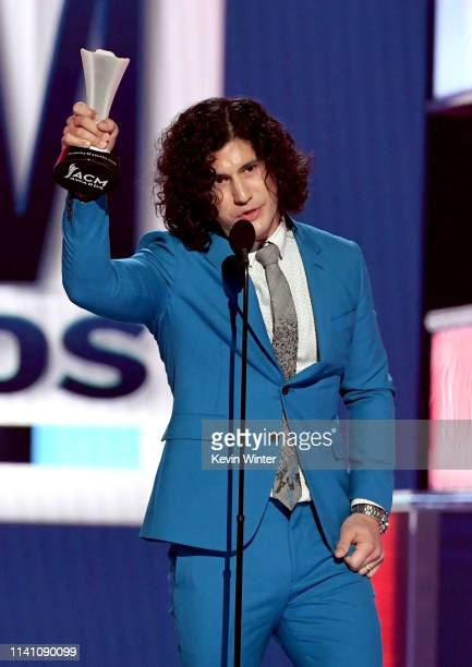 Dan Smyers of Dan Shay accepts the Song of the Year award for 'Tequila' onstage during the 54th Academy Of Country Music Awards at MGM Grand Garden...