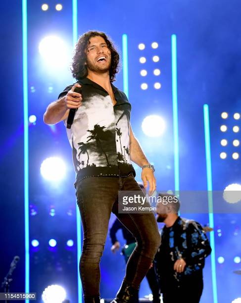 Dan Smyers of Dan Shay performs on stage during day 2 for the 2019 CMA Music Festival on June 07 2019 in Nashville Tennessee