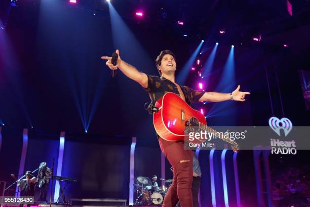 Dan Smyers of musical group Dan Shay performs onstage during the 2018 iHeartCountry Festival By ATT at The Frank Erwin Center on May 5 2018 in Austin...