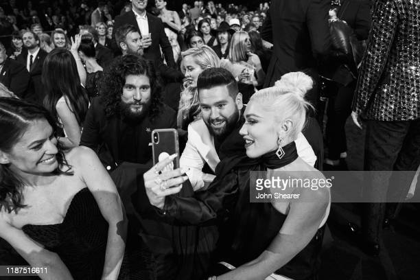 Dan Smyers Shay Mooney and Gwen Stefani attend the 53rd annual CMA Awards at the Bridgestone Arena on November 13 2019 in Nashville Tennessee