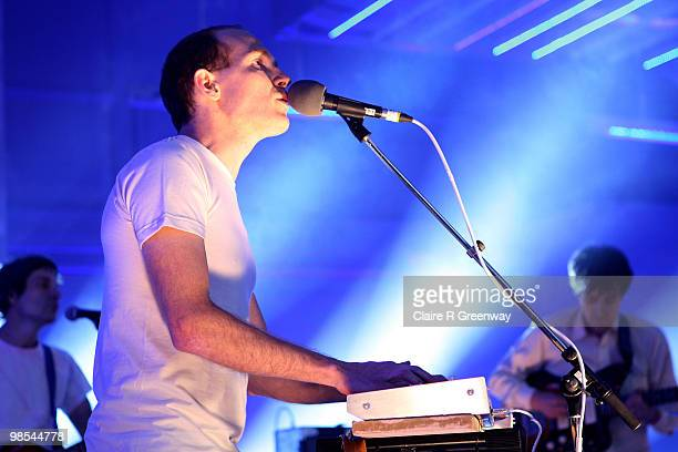 Dan Snaith of Caribou performs on stage during a recording of the 'Evo Music Rooms' for Channel 4, in association with Punto Evo, at The Old Sorting...