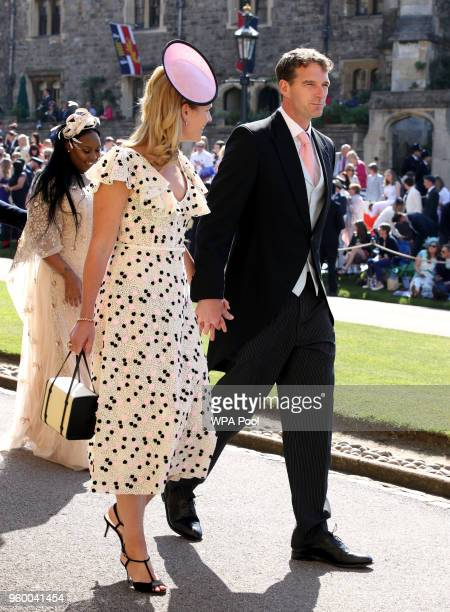 Dan Snow and Lady Edwina Louise Grosvenor arrive for the wedding ceremony of Britain's Prince Harry and US actress Meghan Markle at St George's...
