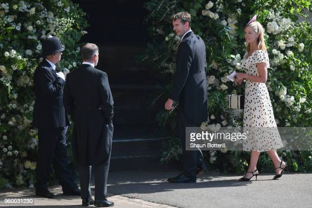 Dan Snow and Lady Edwina Louise Grosvenor the wedding of Prince Harry to Ms Meghan Markle at St George's Chapel Windsor Castle on May 19 2018 in...