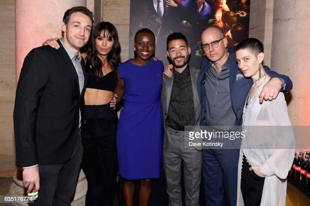 Dan Soder Ilfenesh Hadera Shaunette Renee Wilson Daniel K Isaac Kelly AuCoin and Asia Kate Dillon attend the Showtime and Elit Vodka hosted BILLIONS...