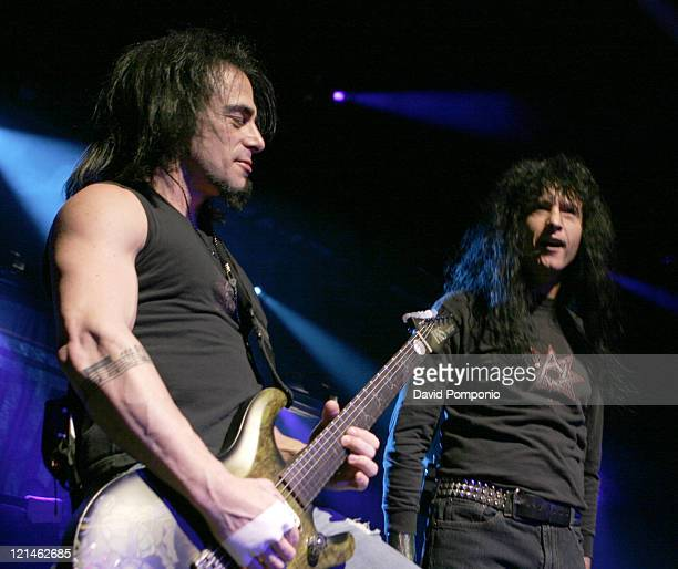 Dan Spitz and Joey Belladonna of Anthrax during Anthrax and God Forbid in Concert at the Nokia Theater in New York City - January 7, 2006 at Nokia...