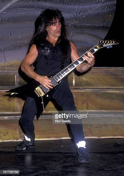 Dan Spitz of Anthrax performs in concert on February 20, 1991 at the Long Beach Arena in Long Beach, California.