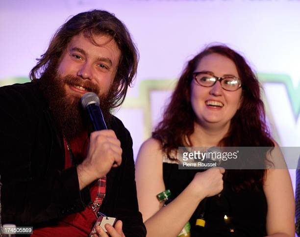 Dan St Germain and Emily Heller attends the Variety 10 Comics To Watch Uncensored panel at the Hyatt Regency July 26 2013 in Montreal Canada