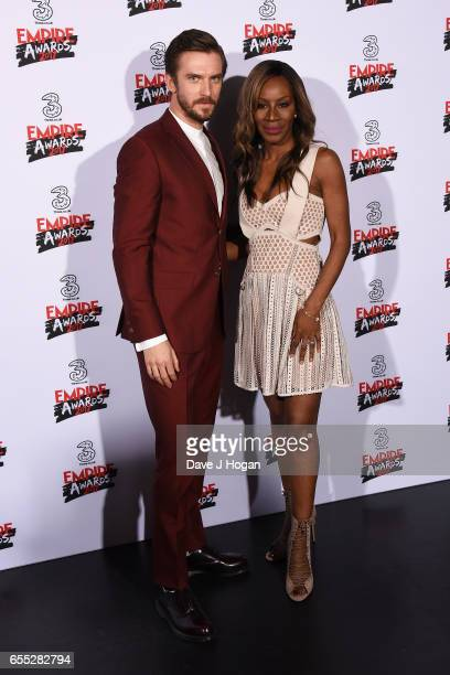 Dan Stevens and Amma Asante pose in the winners room at the THREE Empire awards at The Roundhouse on March 19 2017 in London England