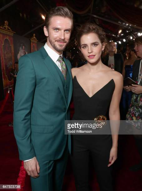 Dan Stevens and Emma Watson attend the premiere of Disney's 'Beauty And The Beast' at El Capitan Theatre on March 2 2017 in Los Angeles California
