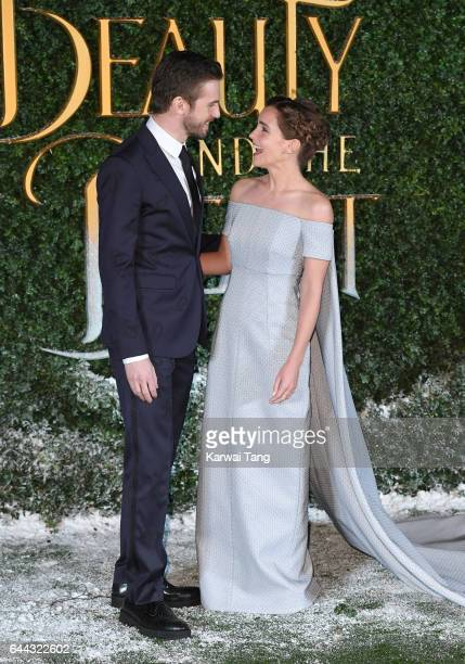 """Dan Stevens and Emma Watson attend the UK launch event for """"Beauty And The Beast"""" at Spencer House on February 23, 2017 in London, England."""