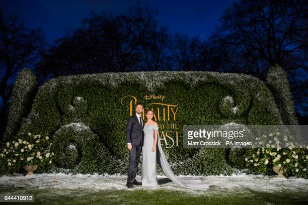 Dan Stevens and Emma Watson attending the Beauty and the Beast launch event at Spencer House London PRESS ASSOCIATION Photo