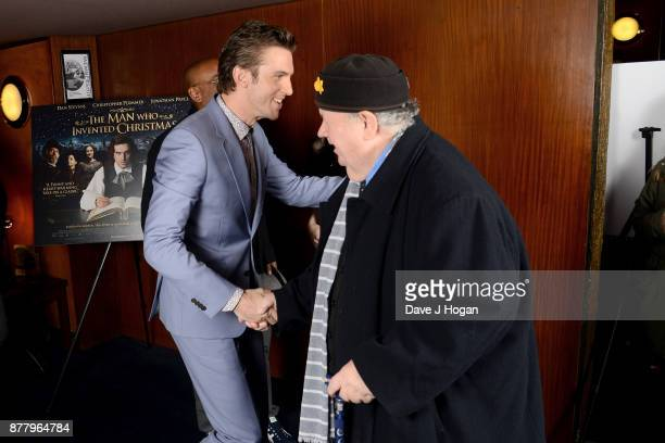 Dan Stevens and Ian McNeice attend the UK premiere of 'The Man Who Invented Christmas' at Curzon Cinema Mayfair on November 23 2017 in London England