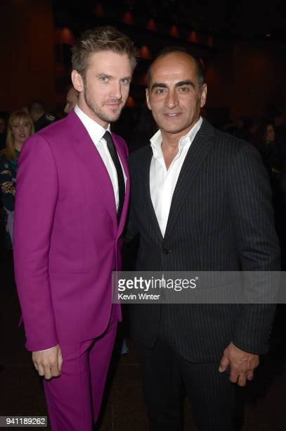 Dan Stevens and Navid Negahban attend the premiere of FX's 'Legion' Season 2 at DGA Theater on April 2 2018 in Los Angeles California