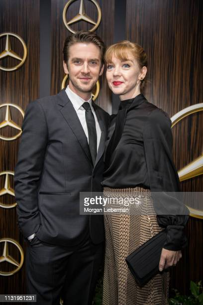 Dan Stevens and Susie Hariet arrive at the MercedesBenz USA's Oscars Viewing Party at Four Seasons Hotel Los Angeles at Beverly Hills on February 24...