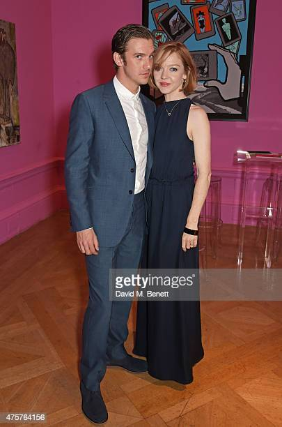 Dan Stevens and Susie Stevens attend the Royal Academy of Arts Summer Exhibition preview party at the Royal Academy of Arts on June 3 2015 in London...