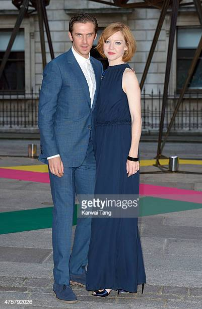 Dan Stevens and Susie Stevens attend the Royal Academy of Arts Summer Exhibition at the Royal Academy on June 3 2015 in London England