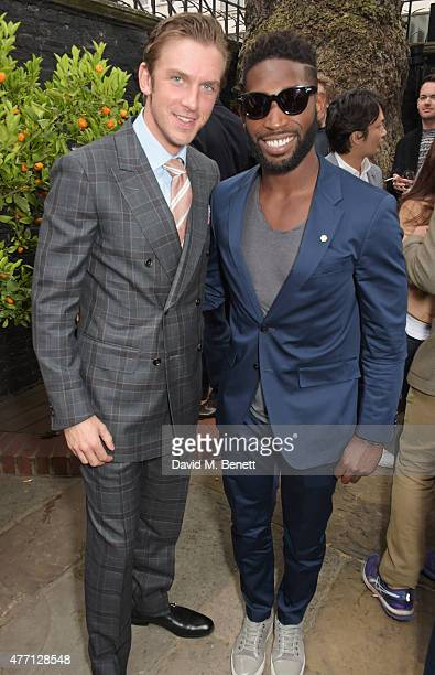 Dan Stevens and Tinie Tempah attend the dunhill and GQ style party to celebrate LCM SS16 at Bourdon House on June 14 2015 in London England