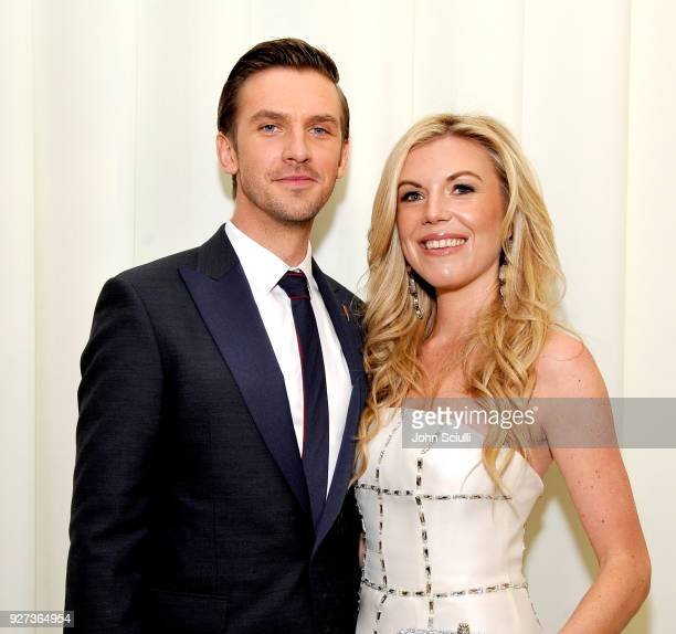 Dan Stevens and Tyler Ellis attends the 26th annual Elton John AIDS Foundation Academy Awards Viewing Party at The City of West Hollywood Park on...