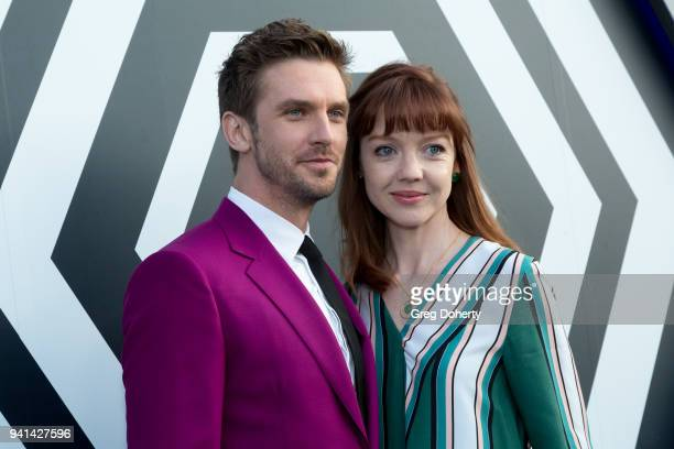 Dan Stevens and wife Susie Stevens attend the Legion Season 2 Premiere at DGA Theater on April 2 2018 in Los Angeles California