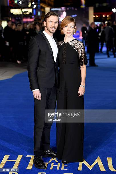 Dan Stevens and wife Susie Stevens attend the UK Premiere of 'Night At The Museum Secret Of The Tomb' at Empire Leicester Square on December 15 2014...