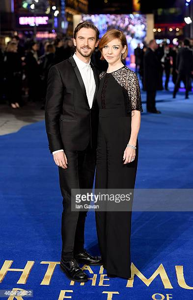 Dan Stevens and wife Susie Stevens attend the UK Premiere of Night At The Museum Secret Of The Tomb at Empire Leicester Square on December 15 2014 in...