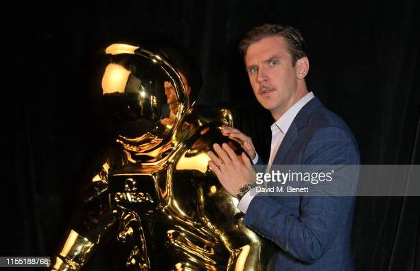 Dan Stevens attends an OMEGA dinner celebrating the 50th anniversary of the Moon Landing at Television Centre on July 11 2019 in London England