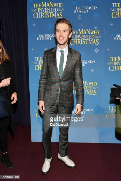 Dan Stevens attends The Man Who Invented Christmas New York screening at Florence Gould Hall on November 12 2017 in New York City