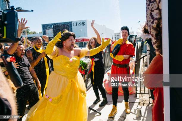 Dan Stevens Luke Evans and Josh Gad performs Crosswalk the Musical Beauty and the Beast with James Corden during The Late Late Show with James Corden...
