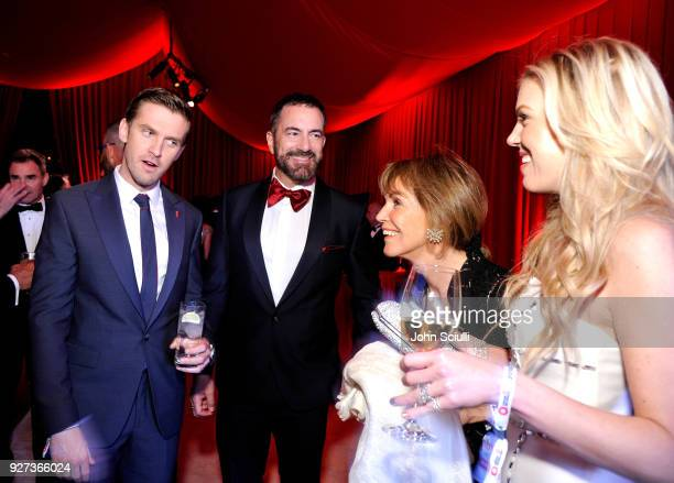Dan Stevens Michael Maccari Barbara Gallagher and Tyler Ellis attend the 26th annual Elton John AIDS Foundation Academy Awards Viewing Party at The...