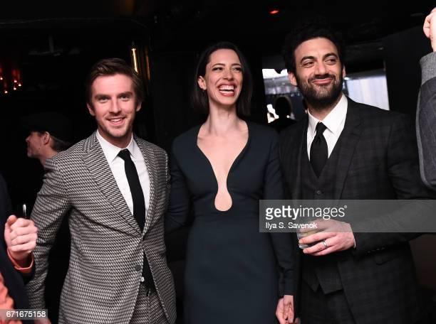 Dan Stevens Rebecca Hall and Morgan Spector attend the After Party for Permission Sponsored by Heineken during 2017 Tribeca Film Festival at UpDown...