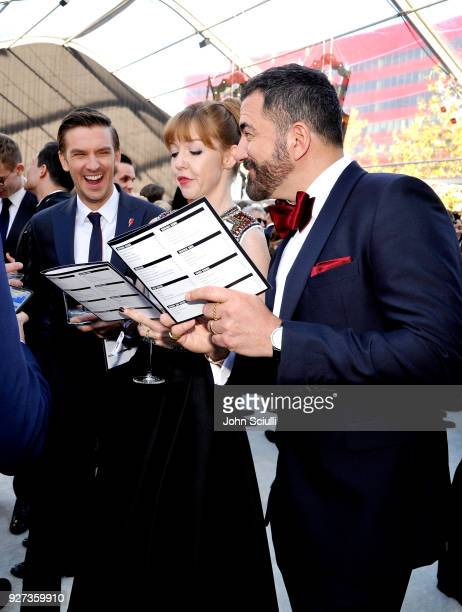 Dan Stevens Susie Hariet and Michael Maccari attend the 26th annual Elton John AIDS Foundation Academy Awards Viewing Party at The City of West...