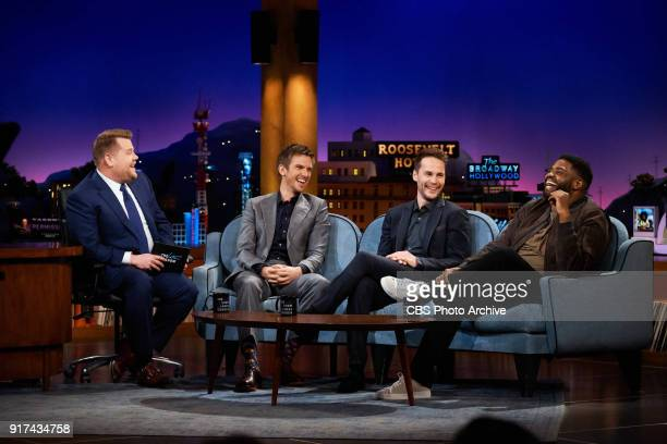 Dan Stevens Taylor Kitsch and Ron Funches chat with James Corden during 'The Late Late Show with James Corden' Thursday February 8 2018 On The CBS...