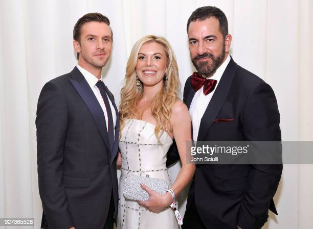 Dan Stevens Tyler Ellis and Michael Maccari attend the 26th annual Elton John AIDS Foundation Academy Awards Viewing Party at The City of West...